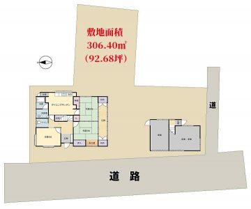 売家 館山市八幡 5DK+離れ 1490万円 物件概略図