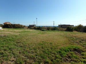 千葉県館山市西川名の不動産、海が見える土地、広い土地、海が見える広い土地です