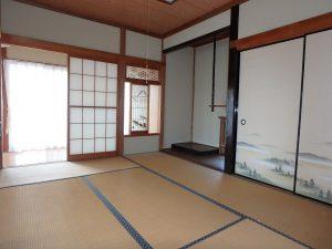 千葉県館山市八幡の不動産、戸建て、移住、建物南側は和室二間と広縁