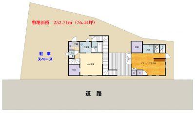海一望売別荘 南房総市和田町白渚 1LDK+ゲストハウス 4300万円 物件概略図