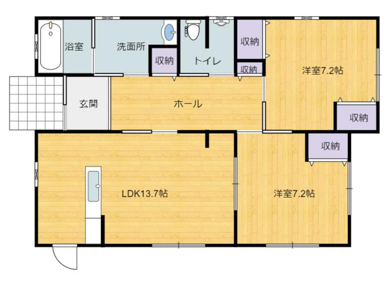 千葉県館山市北条の不動産、中古戸建て、別荘間取り図