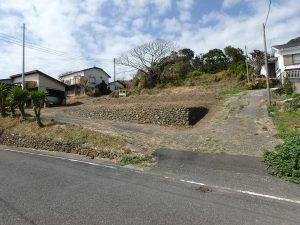 千葉県南房総市和田町花園の土地、売地、海一望、海が見える、公道側から物件全景