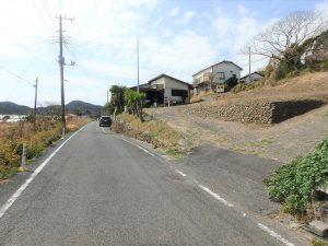 千葉県南房総市和田町花園の土地、売地、海一望、海が見える、私道部のスロープ