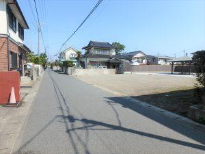 千葉県館山市北条の不動産、土地、北条海岸近く、接道幅員は5mです