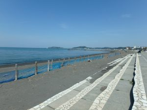 千葉県館山市北条の不動産、土地、北条海岸近く、海岸散歩は日課です