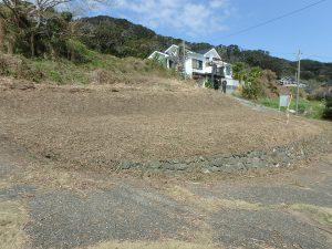 千葉県南房総市和田町花園の土地、売地、海一望、海が見える、地勢は二段ひな壇地