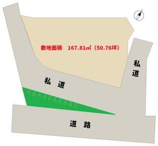 海望売地 南房総市和田町花園 167.81㎡(50.76坪) 438万円 物件概略図