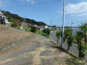 千葉県南房総市和田町花園の土地、売地、海一望、海が見える、公道から一段上がる