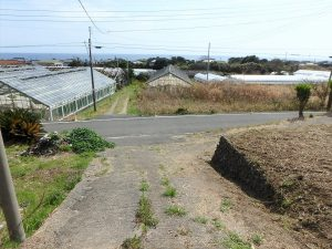 千葉県南房総市和田町花園の土地、売地、海一望、海が見える、道路は私道です