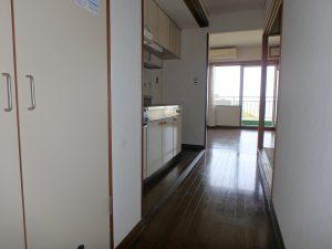 千葉県館山市洲崎のマンション、洲崎ロイヤル、海が見える別荘、間取りは振り分け2LDK