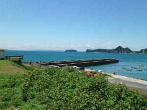 千葉県南房総市高崎の別荘、ハーバーアイランド岩井、海目の前、遮るものない海の景色