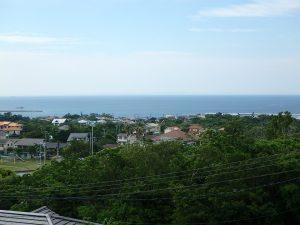 千葉県館山市見物の不動産、ポピーランド、ログハウス、海が見える、高台から海一望です