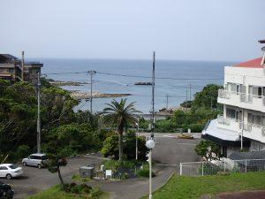 千葉県館山市洲崎のマンション、洲崎ロイヤル、海が見える別荘、少ーしズームにして