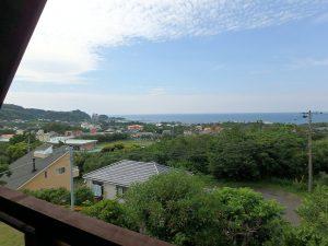 千葉県館山市見物の不動産、ポピーランド、ログハウス、海が見える、2階はこのロケーション