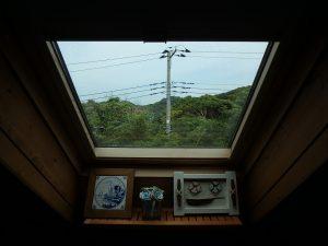 千葉県館山市見物の不動産、ポピーランド、ログハウス、海が見える、トップライトからは星空も