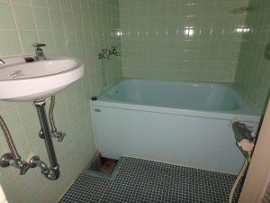 千葉県館山市洲崎のマンション、洲崎ロイヤル、海が見える別荘、浴室と洗面