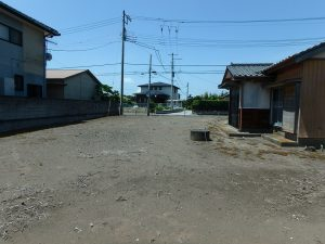 千葉県館山市国分の不動産、土地、別荘用地、南面のは25m