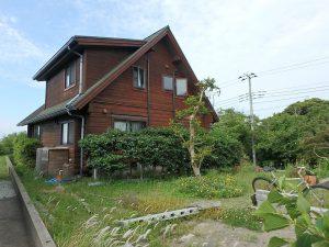千葉県館山市見物の不動産、ポピーランド、ログハウス、海が見える、間取りは4SLDK