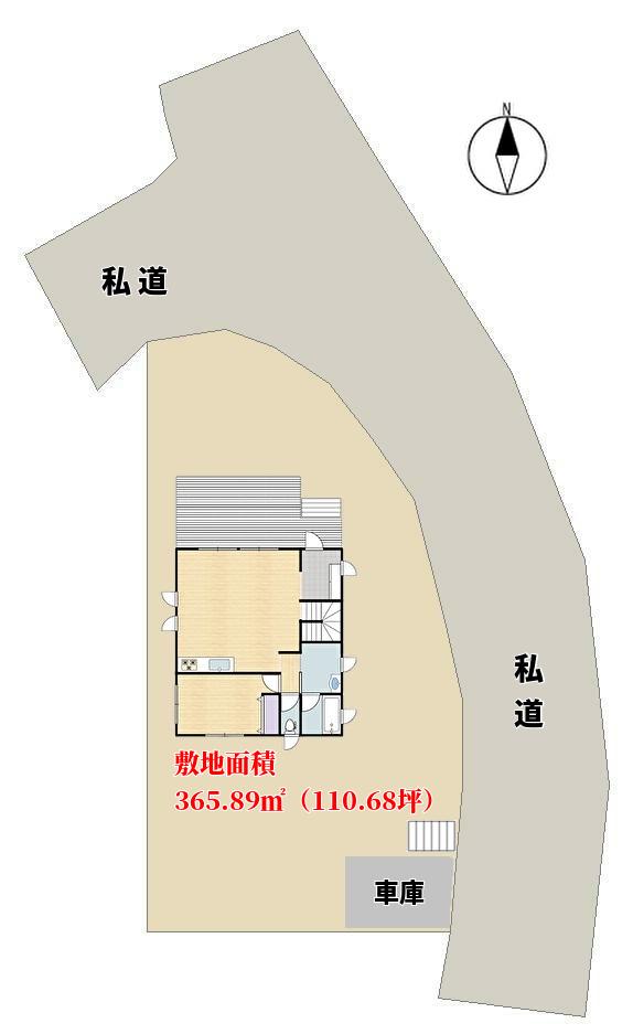 千葉県館山市見物の不動産、ポピーランド海が見える別荘、敷地概略図