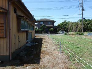 千葉県館山市国分の不動産、土地、別荘用地、土地の北側です