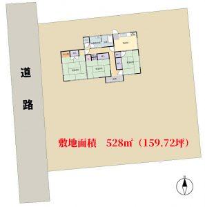 売地 館山市国分 528㎡(159.72坪) 1600万円 物件概略図