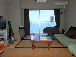 千葉県鴨川市江見青木の不動産、マンション、南鴨川シーハイツ、海望む、海側の和室は6帖