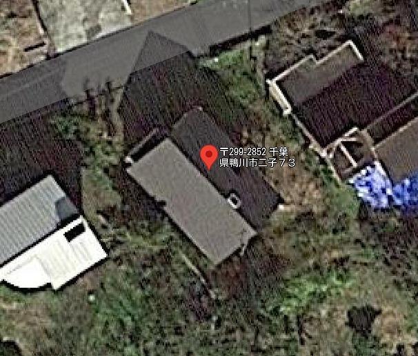 千葉県鴨川市二子の不動産、敷地概略図