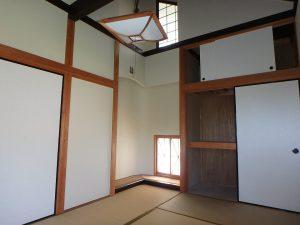 千葉県鴨川市二子の不動産、海が見える別荘、二子棚田、おしゃれ、和室も凝ってて雰囲気ある