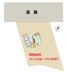 海微望売別荘 鴨川市二子 2LDK 1280万円 物件概略図