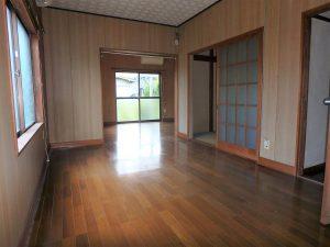 千葉県館山市上真倉の不動産、中古住宅、平家、田舎暮らし、東側はオープンな洋室