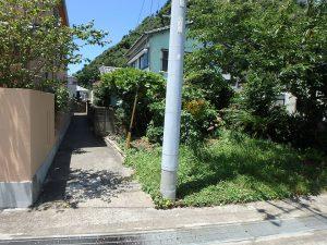 千葉県安房郡鋸南町勝山の不動産、中古住宅、海が近い、釣り別荘、進入路の幅員が残念です