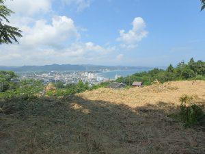 千葉県鴨川市貝渚、一戦場魚見塚の土地、海一望、別荘用地、空気が澄んだ日は更に絶景