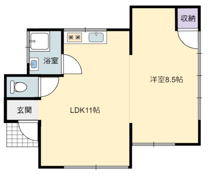 千葉県館山市波左間の不動産、別荘間取り図