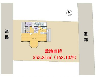 築浅大型売別荘 館山市神余 4LDK 3800万円 物件概略図