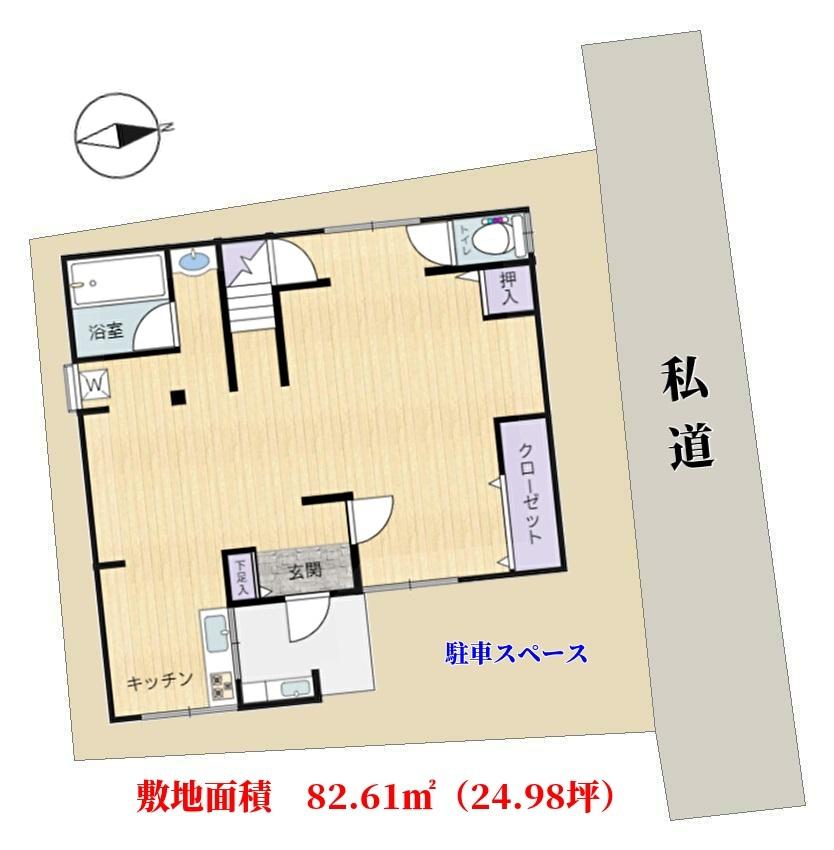 千葉県館山市船形の不動産、別荘、物件敷地概略図