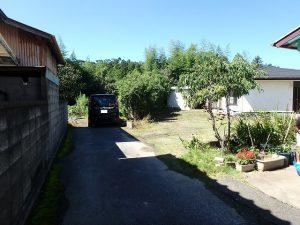 千葉県富津市六野の不動産、田舎暮らし向き平家、移住、前面の道路