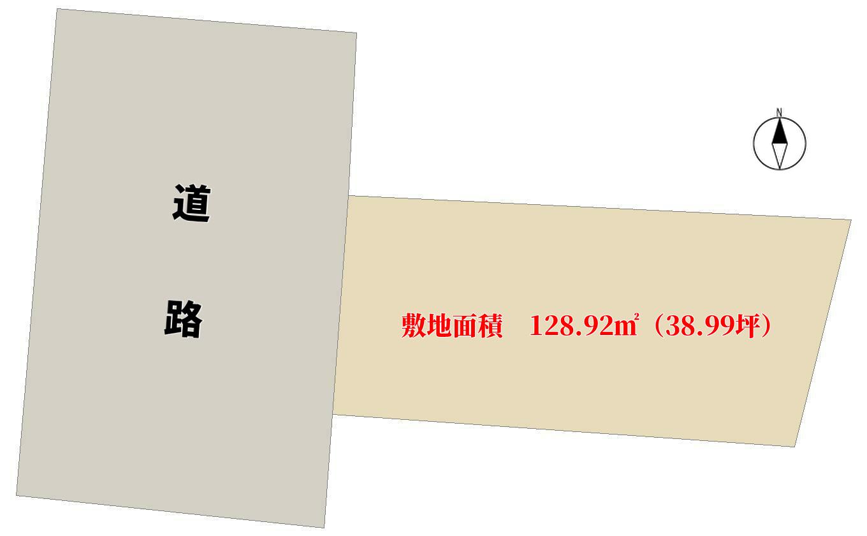 千葉県鴨川市前原の不動産、土地、前原海岸近く、敷地概略図