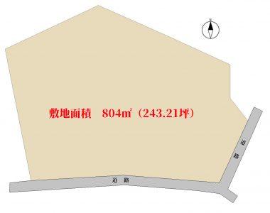 売地 館山市犬石 804㎡(243.21坪) 600万円 物件概略図