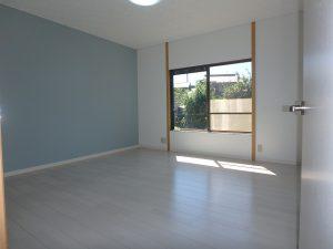 千葉県富津市六野の不動産、田舎暮らし向き平家、移住、玄関入って左手の洋室